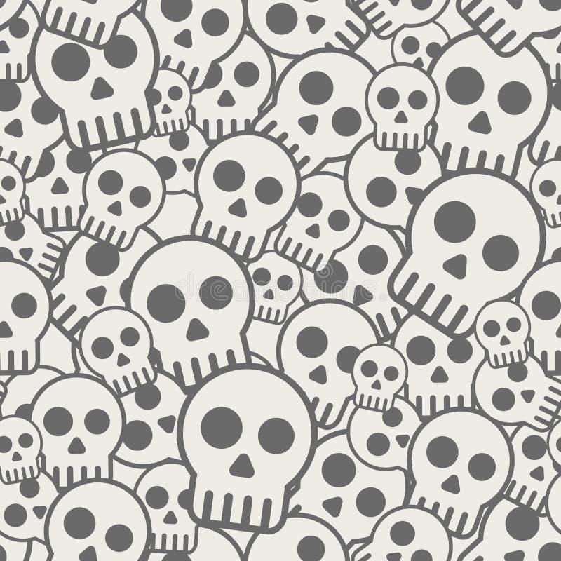 Fondo senza cuciture del cranio royalty illustrazione gratis