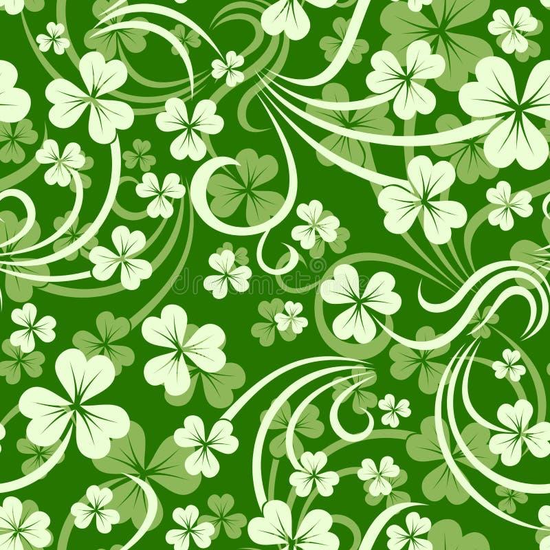 Fondo senza cuciture del giorno di St Patrick con l'acetosella. illustrazione vettoriale