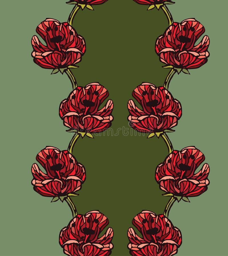 Fondo senza cuciture del modello con i tulipani fotografie stock