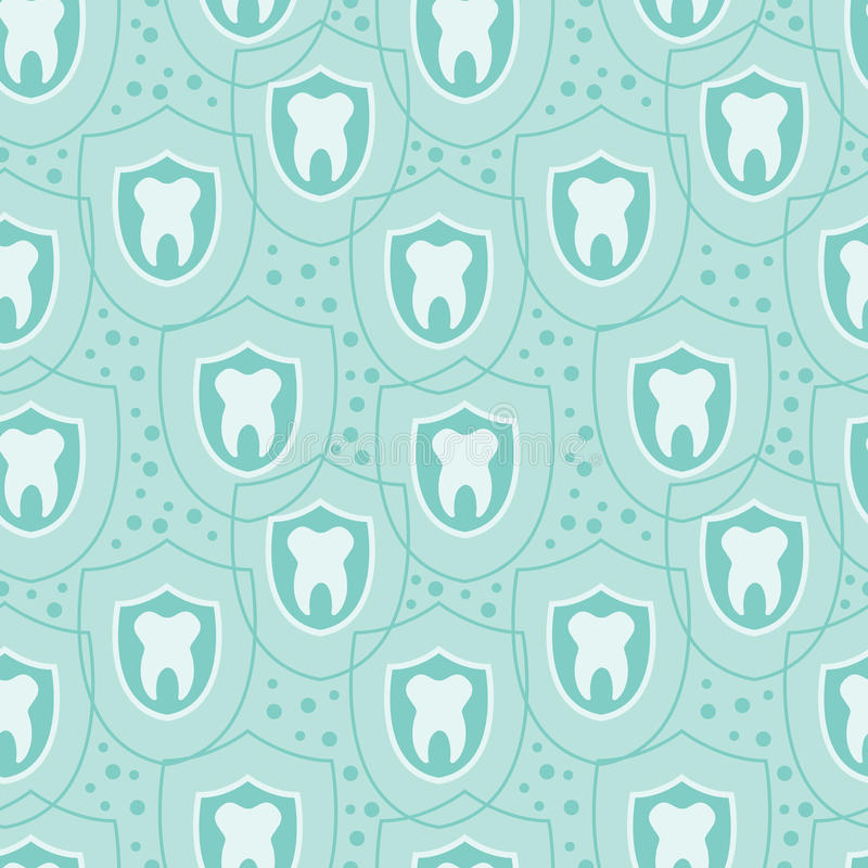 Fondo senza cuciture del modello dei denti sani illustrazione vettoriale