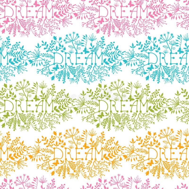 Fondo senza cuciture del modello del damasco floreale di sogno royalty illustrazione gratis