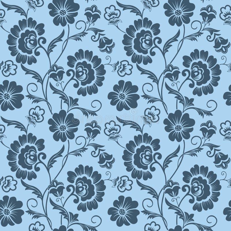 Fondo senza cuciture del modello del fiore di vettore Struttura elegante per gli ambiti di provenienza Floreale antiquato di luss illustrazione di stock