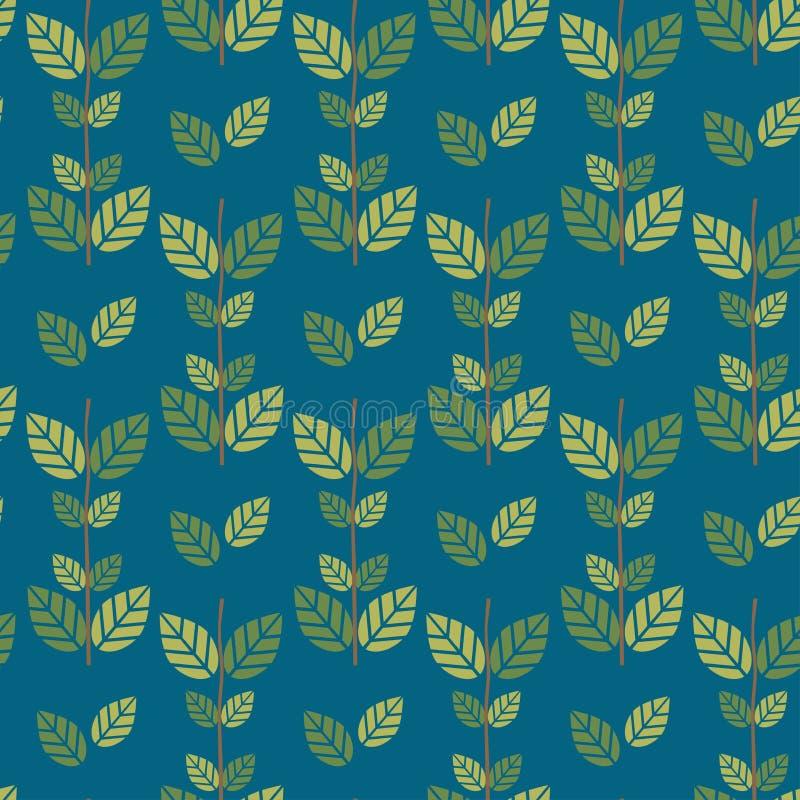 Fondo senza cuciture del modello delle foglie verdi fotografia stock libera da diritti