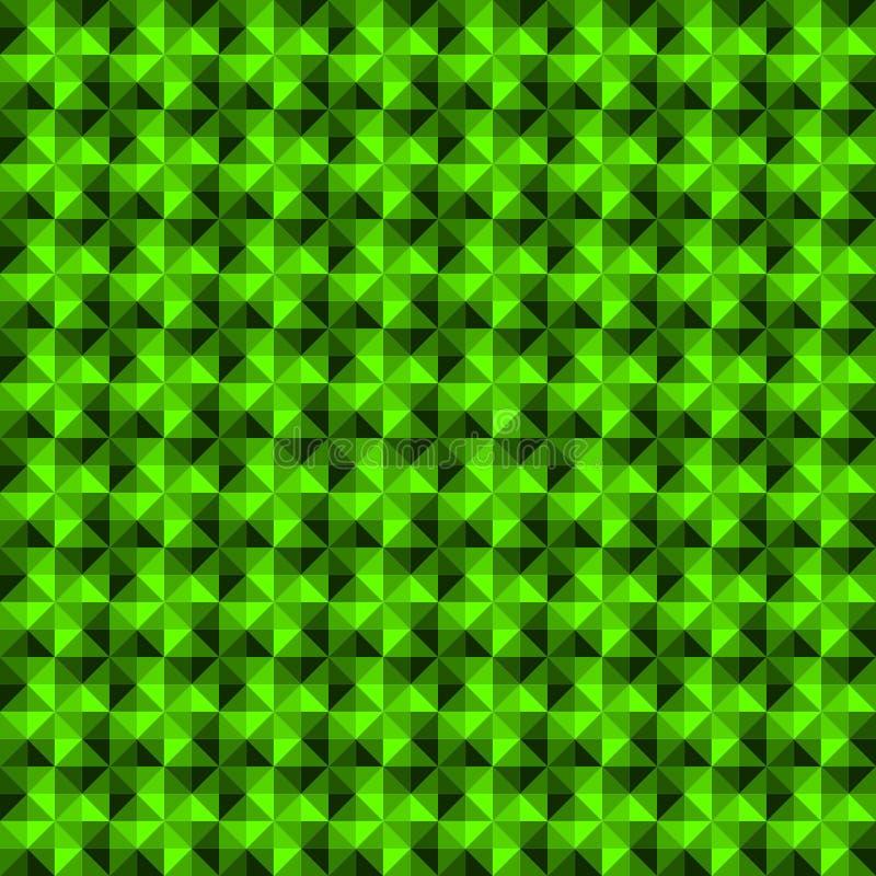 Fondo senza cuciture del modello di pendenza di forma geometrica verde dell'estratto illustrazione di stock