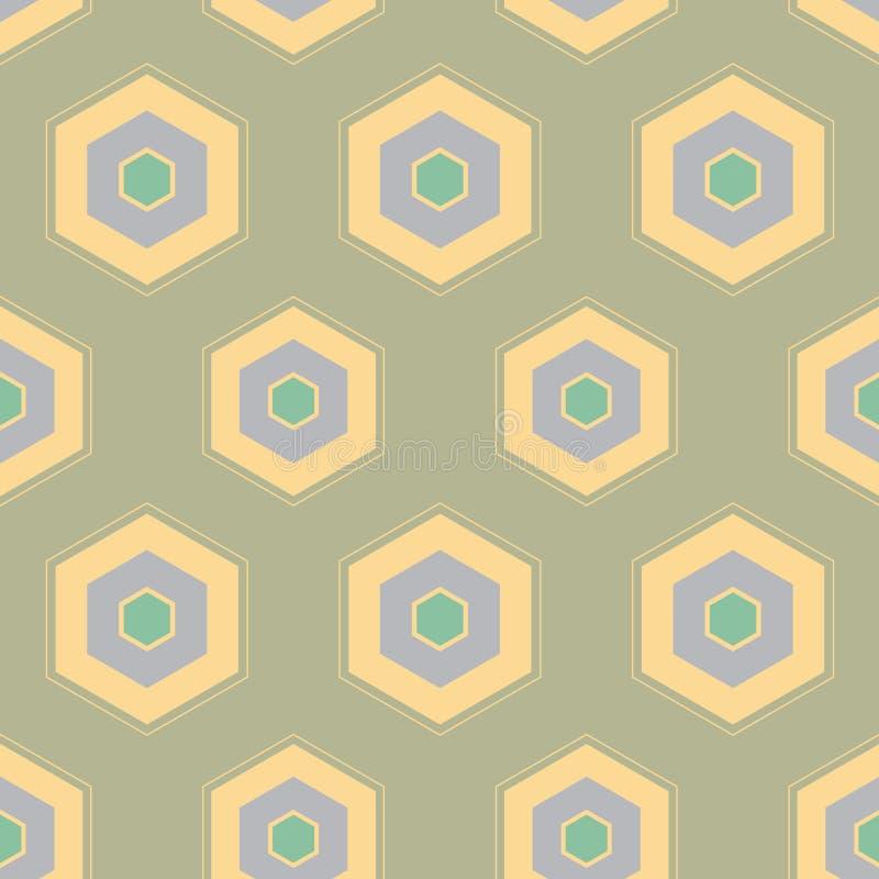 Fondo senza cuciture del modello di progettazione geometrica dell'estratto del favo di vettore royalty illustrazione gratis
