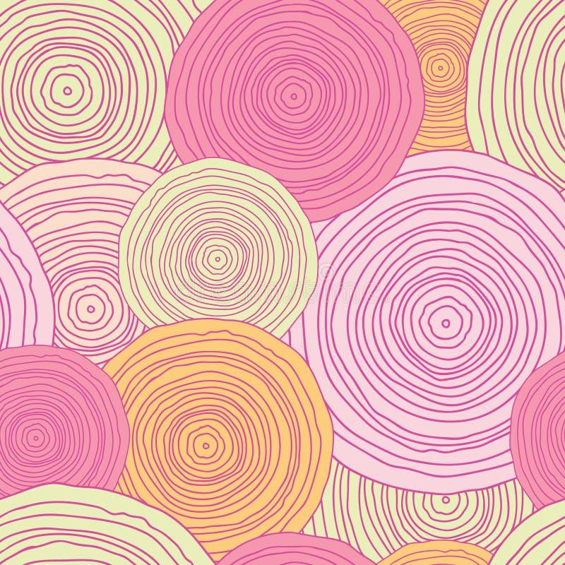 Fondo senza cuciture del modello di struttura del cerchio di scarabocchio illustrazione vettoriale