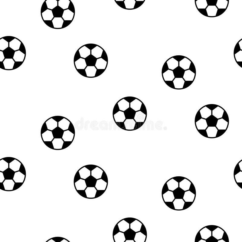 Fondo senza cuciture del modello di vettore della palla di calcio illustrazione vettoriale