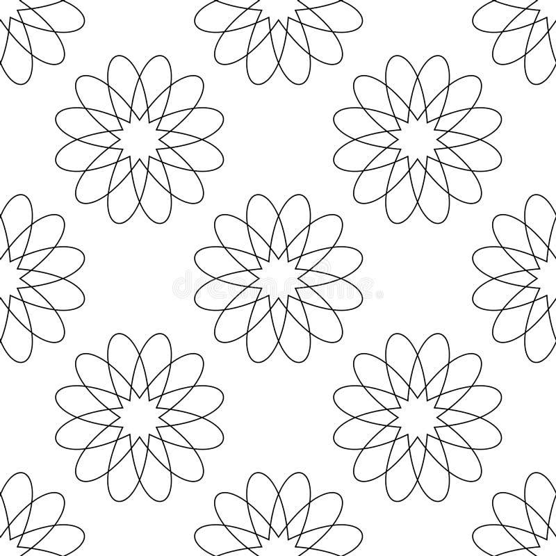 Fondo senza cuciture del modello Estratto moderno e concetto antico classico Tema alla moda di progettazione creativa geometrica  royalty illustrazione gratis