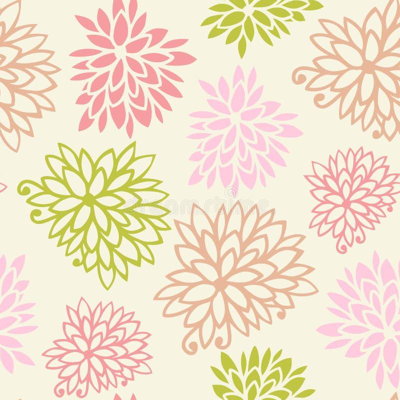 Fondo senza cuciture del modello del fiore dolce illustrazione vettoriale