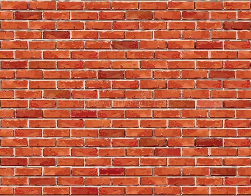 Fondo senza cuciture del muro di mattoni rosso - struttura royalty illustrazione gratis