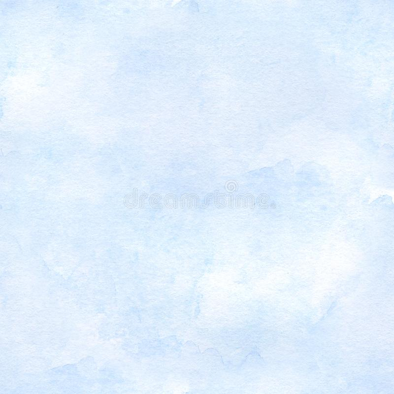 Fondo senza cuciture dell'acquerello degli azzurri Disegnato a mano royalty illustrazione gratis