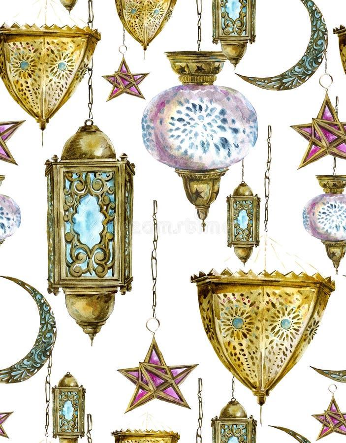 Download Fondo Senza Cuciture Dell'acquerello Tradizionale Con Illustrazione di Stock - Illustrazione di kareem, arabo: 56893493