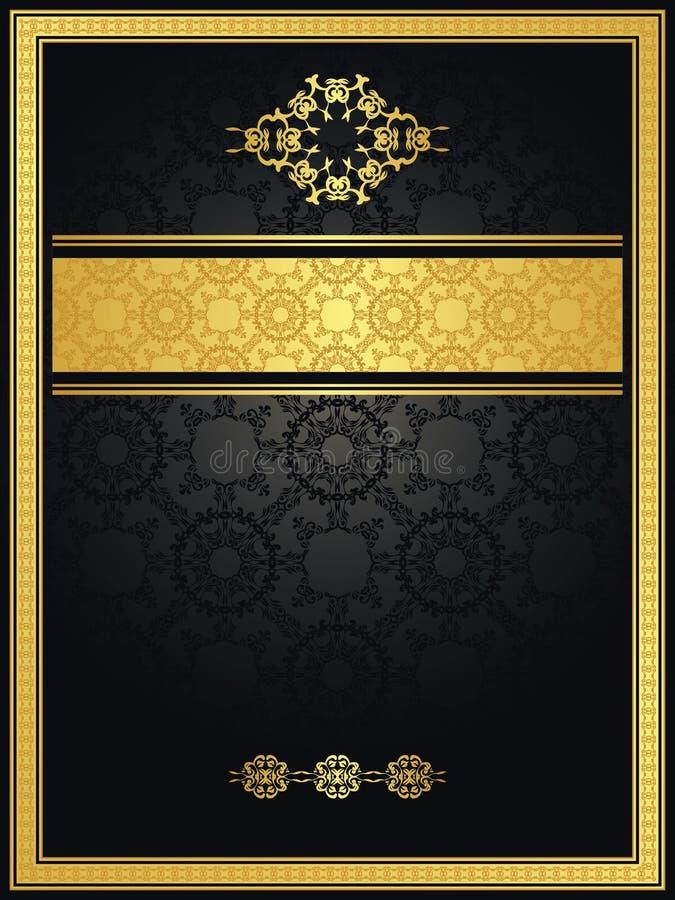 Fondo senza cuciture dell'annata con il blocco per grafici dell'oro royalty illustrazione gratis