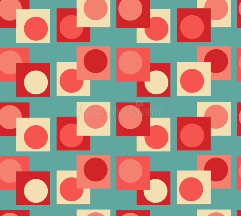Fondo senza cuciture della geometria di rosso blu illustrazione vettoriale