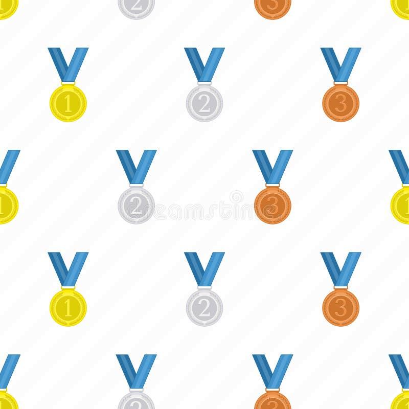 Fondo senza cuciture della medaglia royalty illustrazione gratis