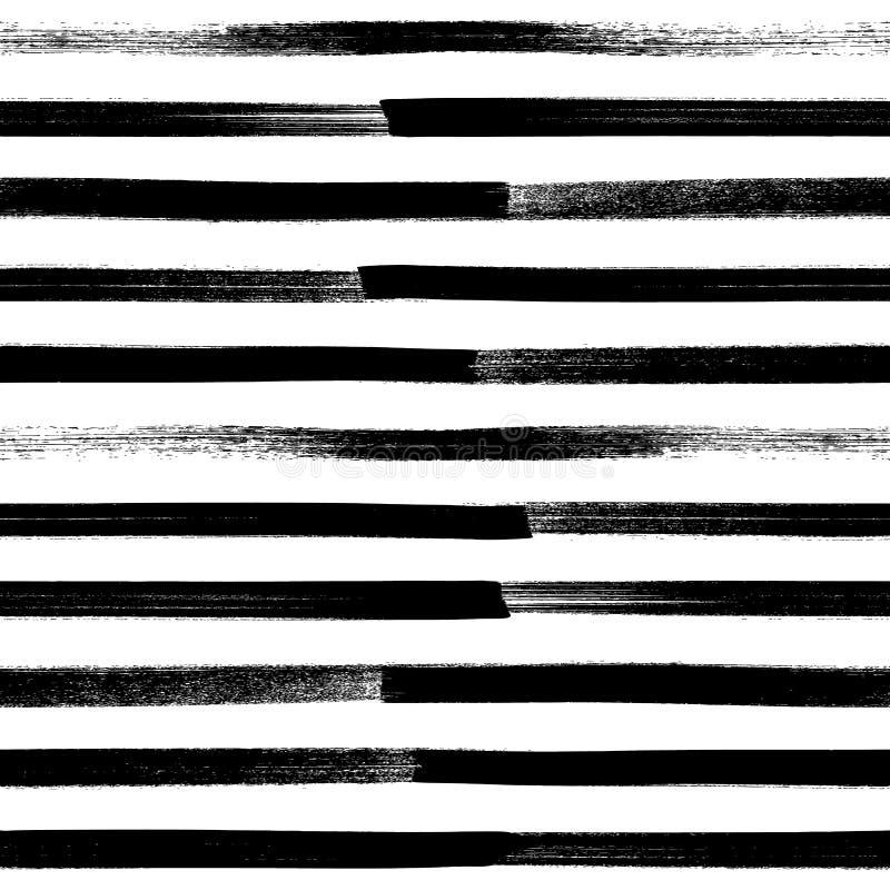 Fondo senza cuciture di pennellata astratta della pittura illustrazione vettoriale