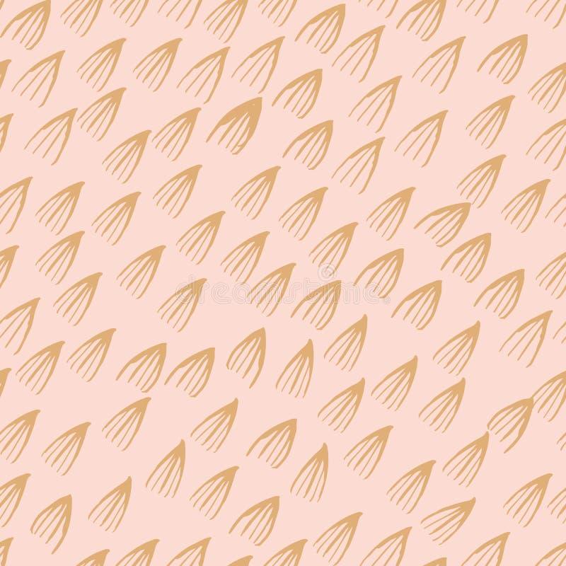 Fondo senza cuciture di progettazione del modello dell'acquerello astratto del segno royalty illustrazione gratis