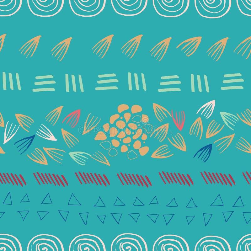 Fondo senza cuciture di progettazione della stampa dell'alzavola azteca astratta royalty illustrazione gratis
