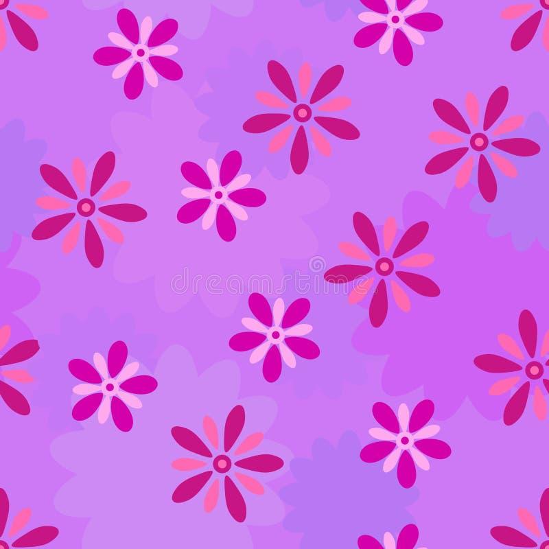 Fondo senza cuciture di vettore del fiore porpora illustrazione vettoriale