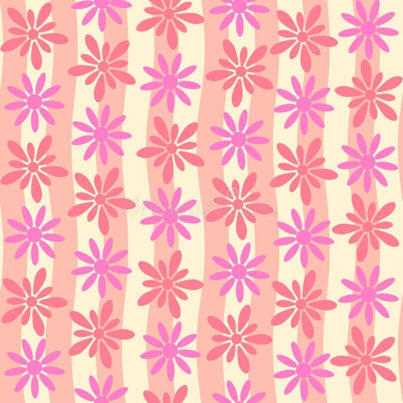 Fondo senza cuciture di vettore del fiore rosa illustrazione vettoriale