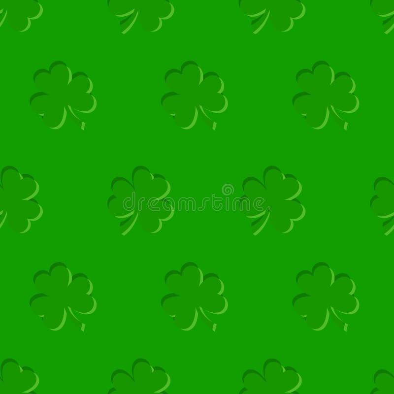 Fondo senza cuciture di vettore del giorno di St Patrick con l'acetosella illustrazione vettoriale