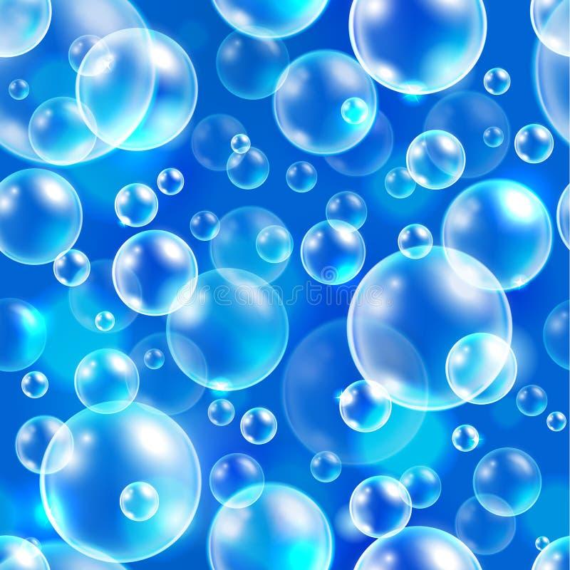 Fondo senza cuciture di vettore dell'elemento quadrato, modello astratto con le bolle di aria royalty illustrazione gratis