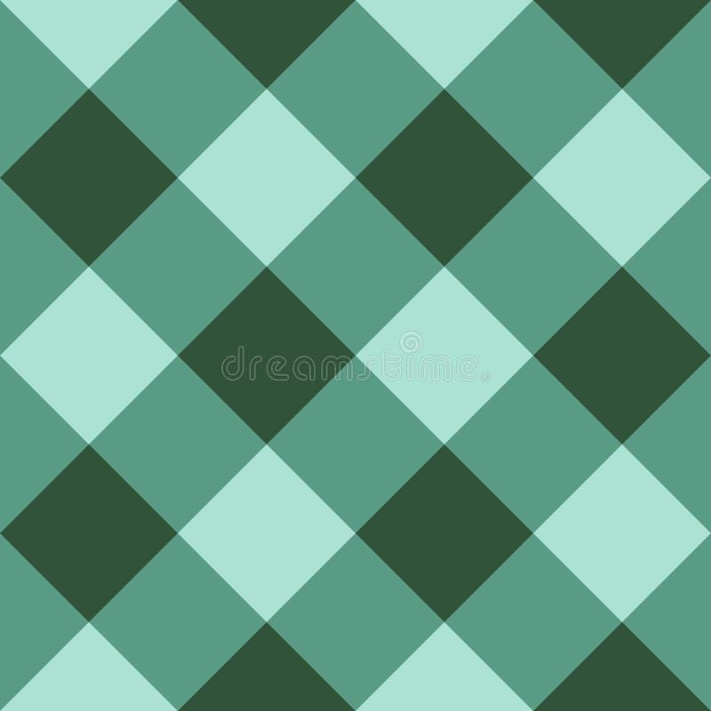 Fondo senza cuciture diagonale a quadretti verde royalty illustrazione gratis