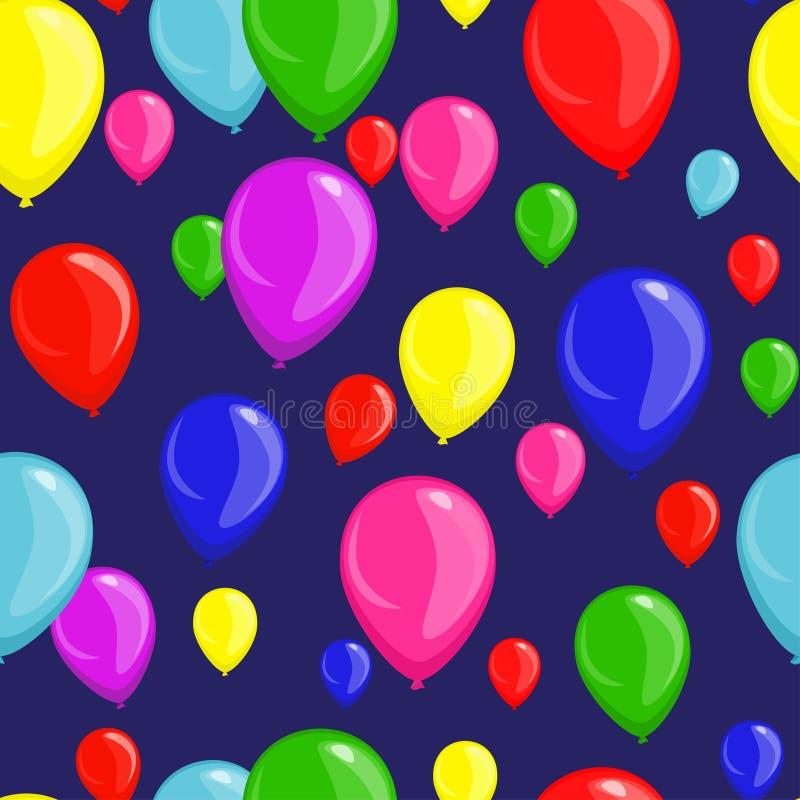 Fondo senza cuciture festivo con i palloni fotografia stock libera da diritti
