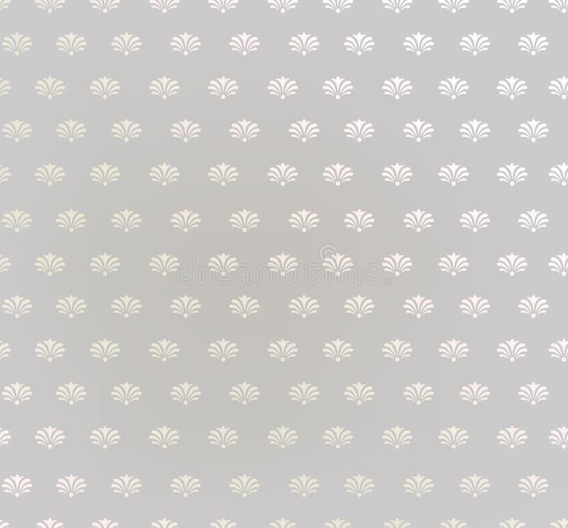 Fondo senza cuciture floreale. Struttura senza cuciture geometrica floreale beige e grigia astratta illustrazione vettoriale
