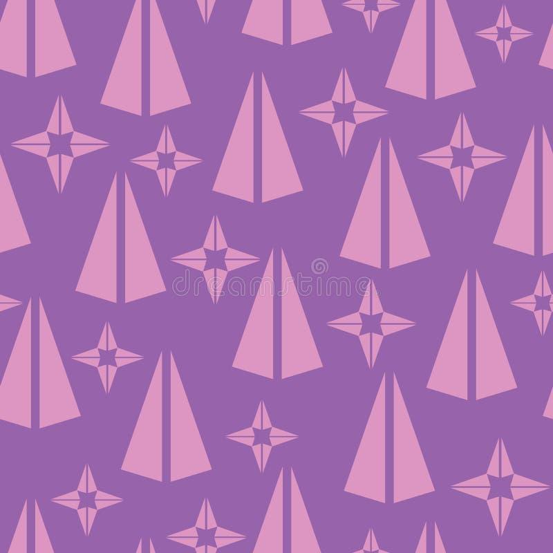Fondo senza cuciture geometrico del modello di vettore royalty illustrazione gratis
