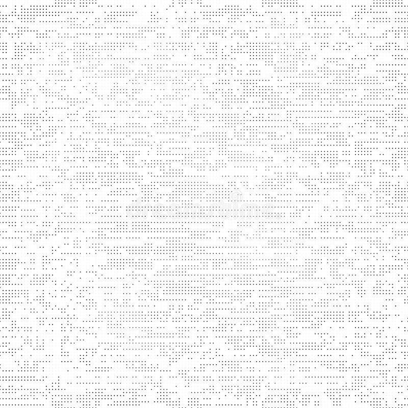 Fondo senza cuciture grigio di lerciume, fatto dai punti illustrazione vettoriale