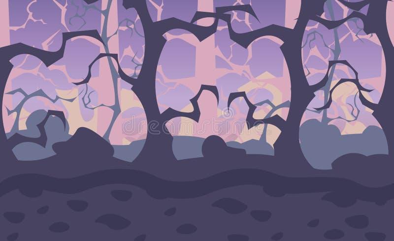 Fondo senza cuciture indipendente della foresta illustrazione di stock