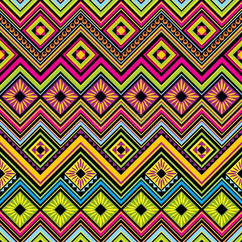 Fondo senza cuciture messicano di zigzag royalty illustrazione gratis