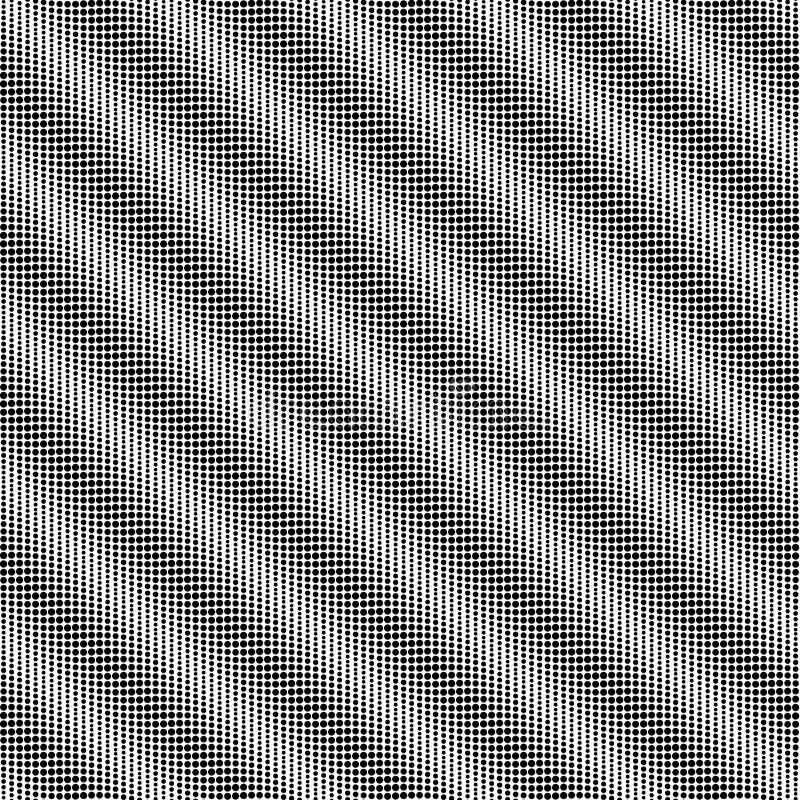 Fondo senza cuciture punteggiato in bianco e nero Progettazione grafica di modo geometrico Illustrazione di vettore Struttura ast illustrazione di stock