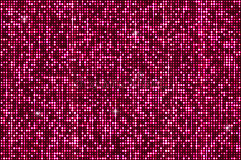 Fondo senza cuciture rosa degli zecchini di luccichio illustrazione di stock