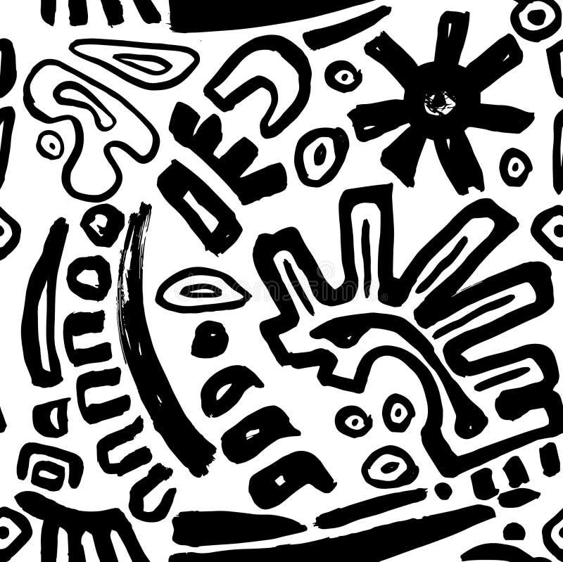 Fondo senza cuciture tribale illustrazione vettoriale