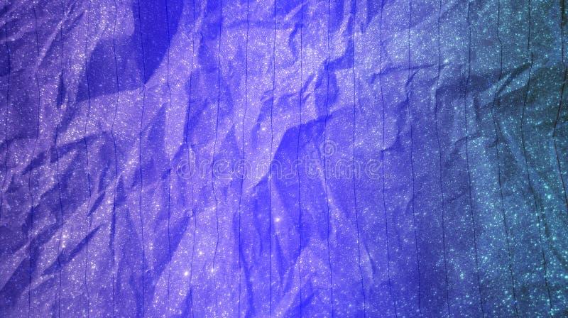 Fondo shinning scintillante astratto di effetti di colori di colore blu pastello blu elettrico di effetti della carta sgualcita m fotografia stock libera da diritti