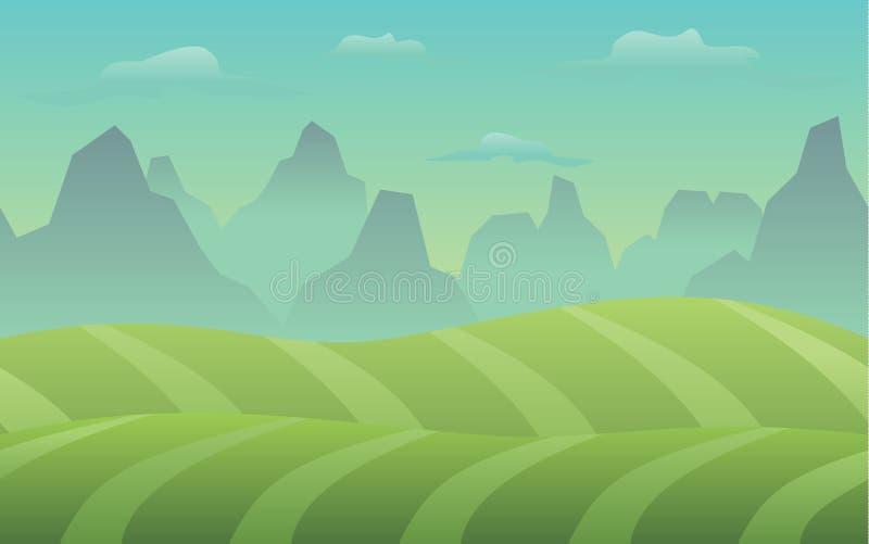 Fondo silenzioso del video gioco del prato royalty illustrazione gratis