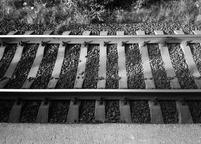 Fondo simétrico de la ciudad de la pista ferroviaria imagen de archivo libre de regalías