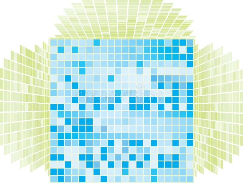 Fondo simple azul y verde libre illustration