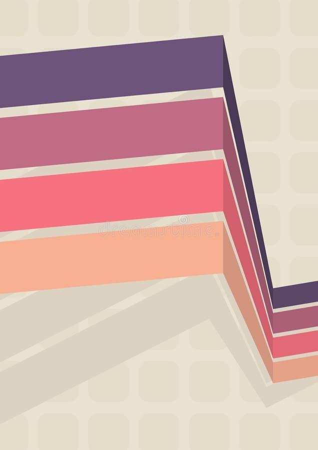 Fondo simple del vector en estilo retro stock de ilustración