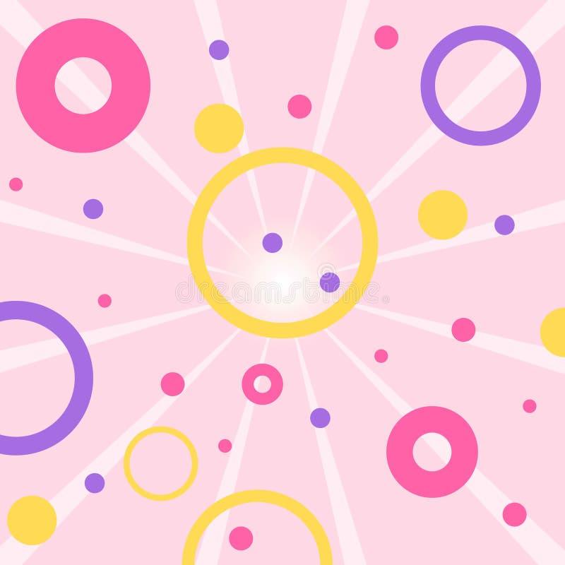Fondo sin fin con los círculos libre illustration