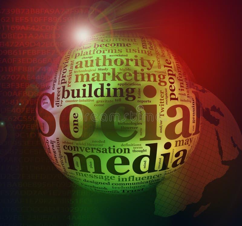 Fondo social abstracto de los media ilustración del vector