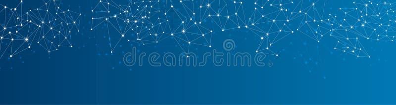 Fondo social azul de la red ilustración del vector
