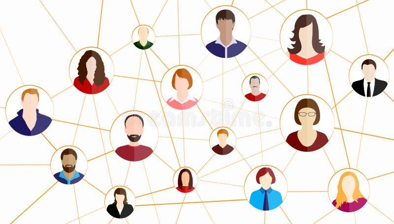 Fondo social del vector del concepto de la red libre illustration
