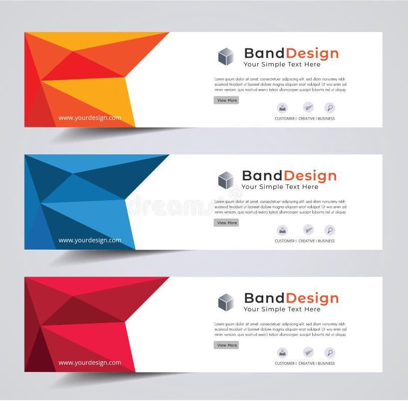 Fondo sociale della struttura di vettore di progettazione dell'insegna di intestazione usato per progettazione della copertina royalty illustrazione gratis
