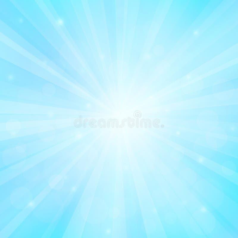 Fondo soleado con las luces del bokeh stock de ilustración