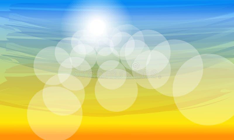 Fondo soleado del verano del color stock de ilustración