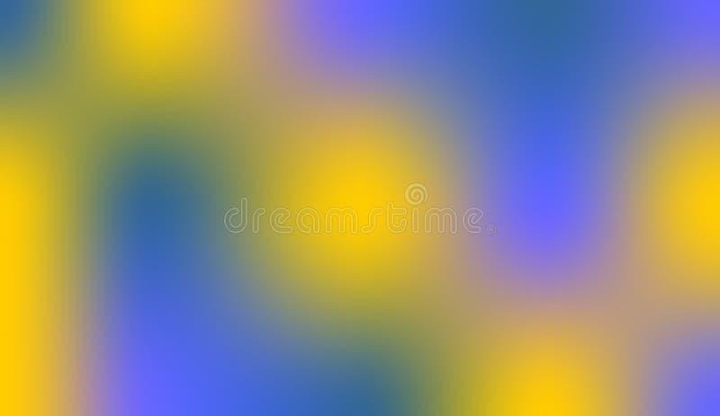 Fondo sombreado borroso amarillo azul en colores pastel de la mezcla de color del extracto imagen de archivo libre de regalías