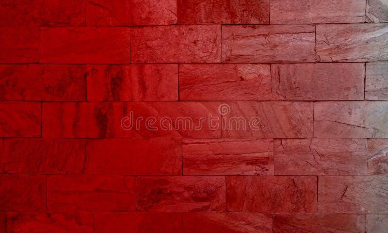 Fondo sombreado rojo del piso del ladrillo para el extracto de la creaci?n foto de archivo